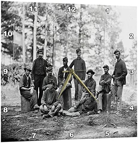3dRose Print of Civil War Soldiers Picture – Wall Clock, 13 by 13-Inch DPP_204923_2