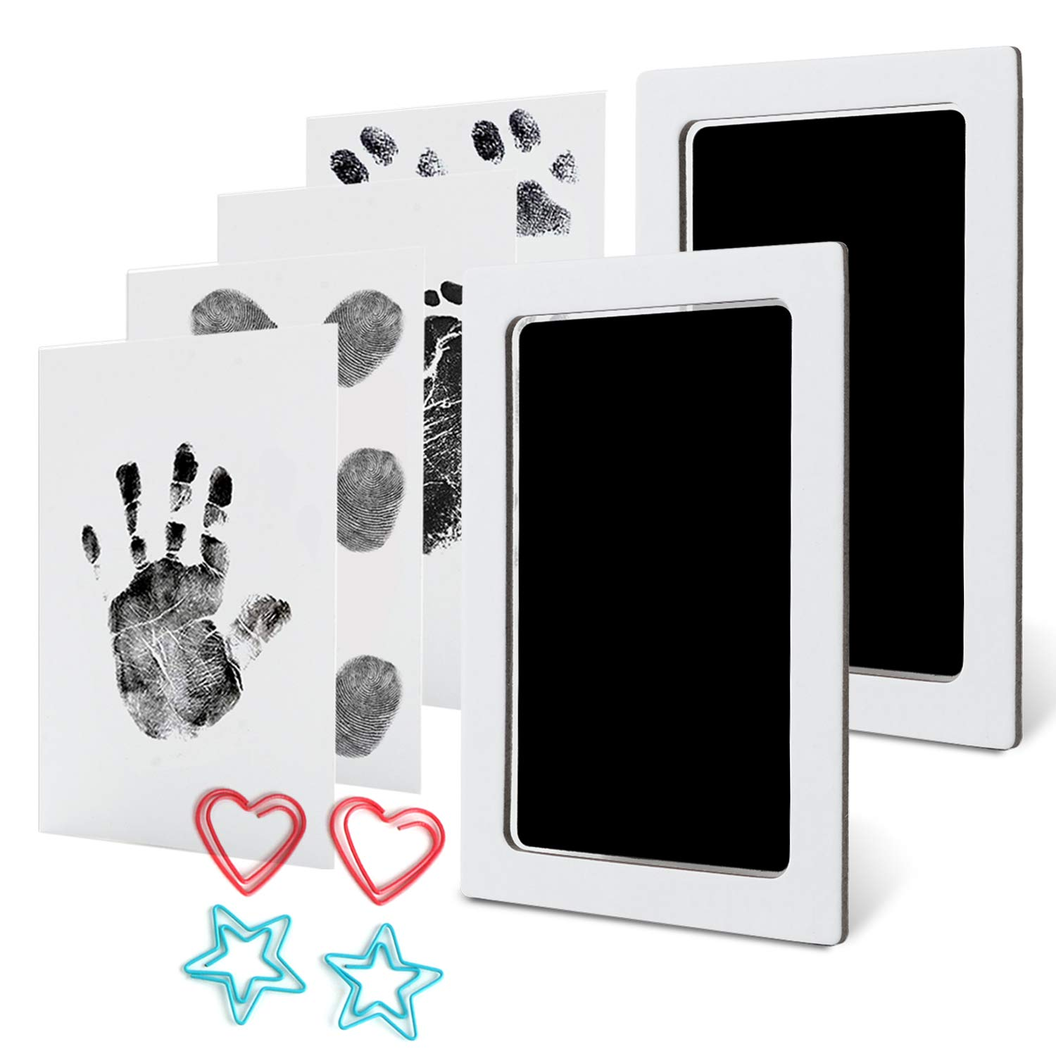 inkless touch stamp pad safe and non-toxic ink pad SHANGXIN Baby handprint footprint stamp pad suitable for baby anniversary souvenirs. baby footprint memorial table