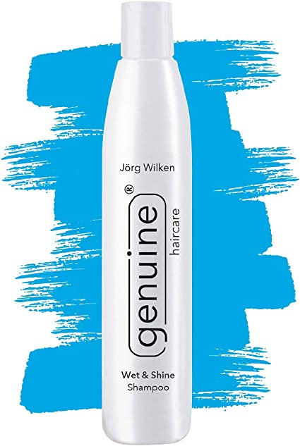 Wet & Shine Champú, para cabello normal a fuerte, seco y poroso, cuero cabelludo seco, aceite de moringa, proteína de trigo, genuine haircare