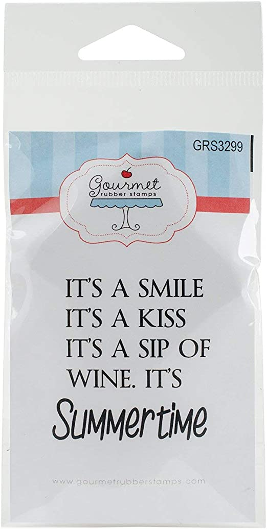 Gourmet Rubber Stamps The Best Things in Life Cling Stamps 2.75 x 4.75