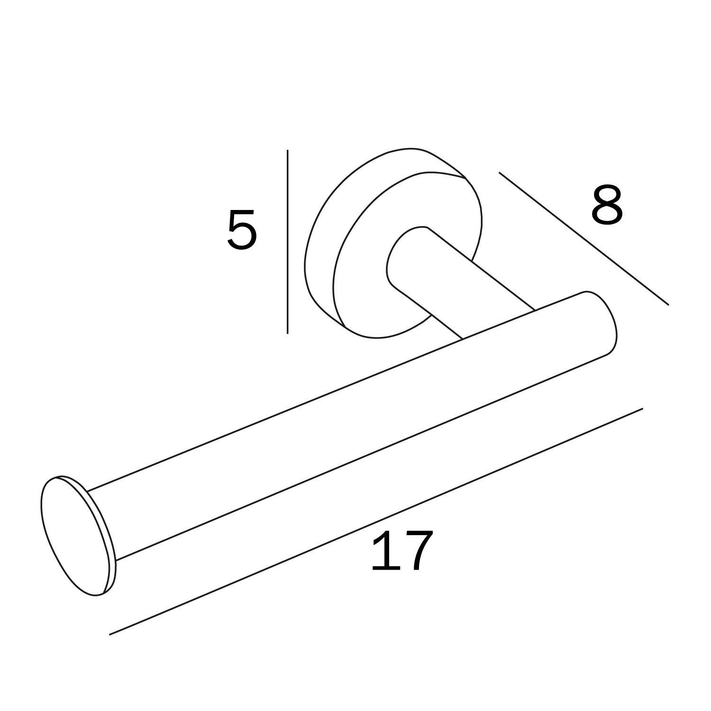 Lucido Inda A6025AAL STYL Portarotolo per Carta Igienica 8 x 17 x 5 cm Acciaio Inox