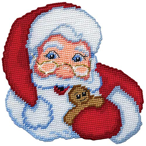 Design Works Santa with Specs Wall Hanging Plastic Canvas Kit (Santa Plastic Canvas)