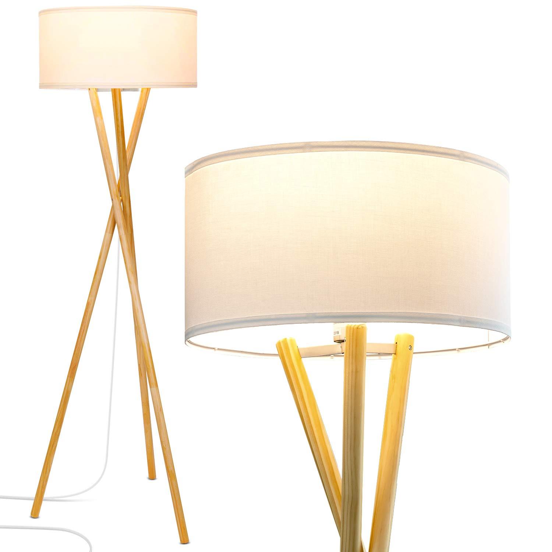 b25799a5fbdb5 Brightech Harper LED Tripod Floor Lamp - Wood