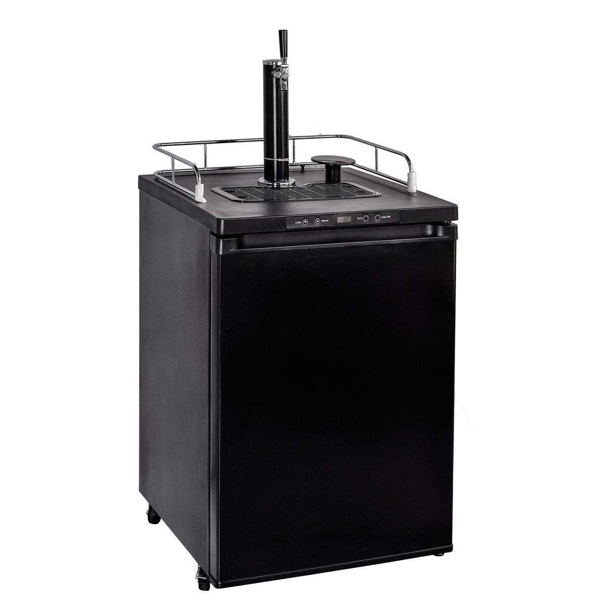 SMETA Full Size Keg Beer Cooler Refrigerator Kegerator Draft Beer Dispenser with Digital Display,5.6 Cu ft,Black