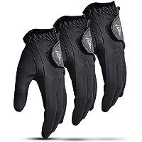 VG 2019 Men's All Weather 2.0 Black Golf Glove - Left Hand (Pack of 3)