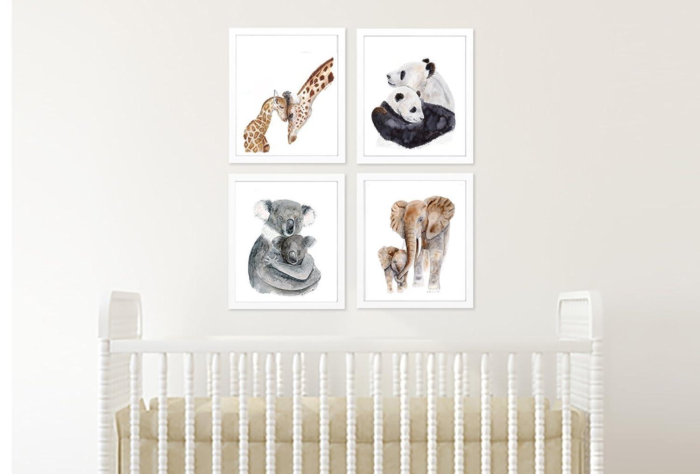 Watercolour Koala Print Australian animal artwork nursery prints mum and baby
