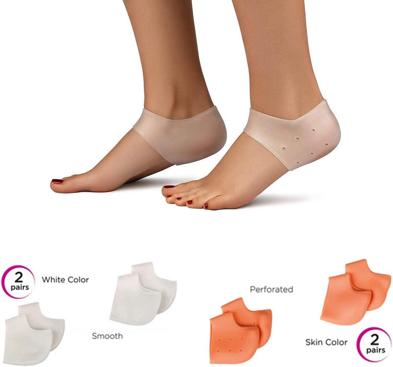 Almohadillas para espolón calcáneo y fascitis plantar (8 piezas). Proporcionan soporte del arco plantar, alivio del dolor en la planta del pie y alivio del dolor en el talón