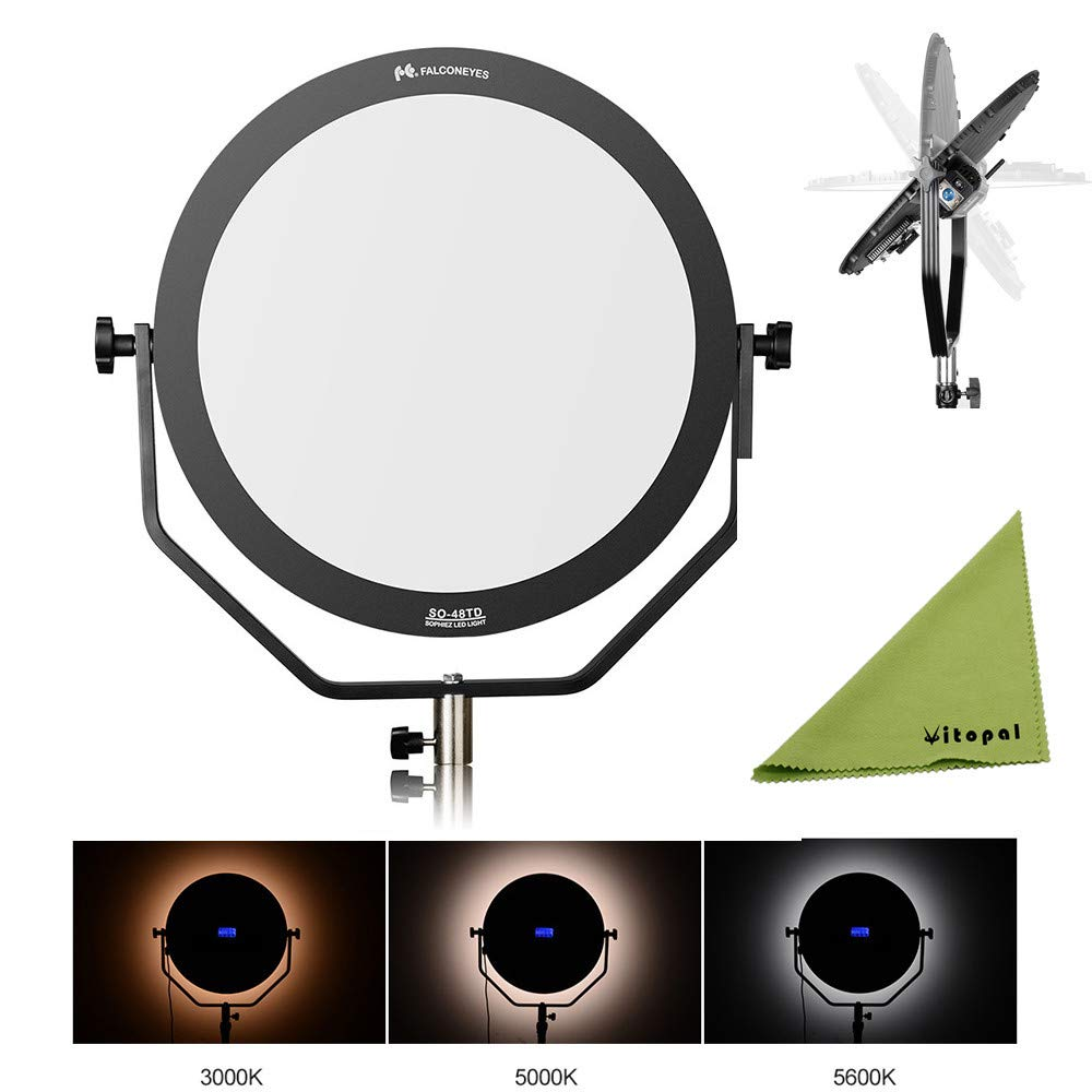 Falcon Eyes 48W FlapJack LED SO-48TD Dimmable 3000-5600K Lighting Soft Light Photo Video Film Continuous Light by FalconEyes
