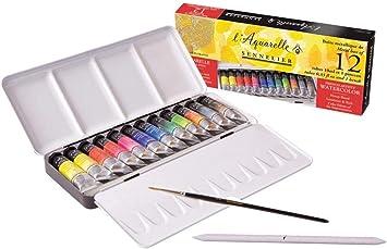 Caja Sennelier de pintura de acuarela extrafina 12 tubos Caja ...
