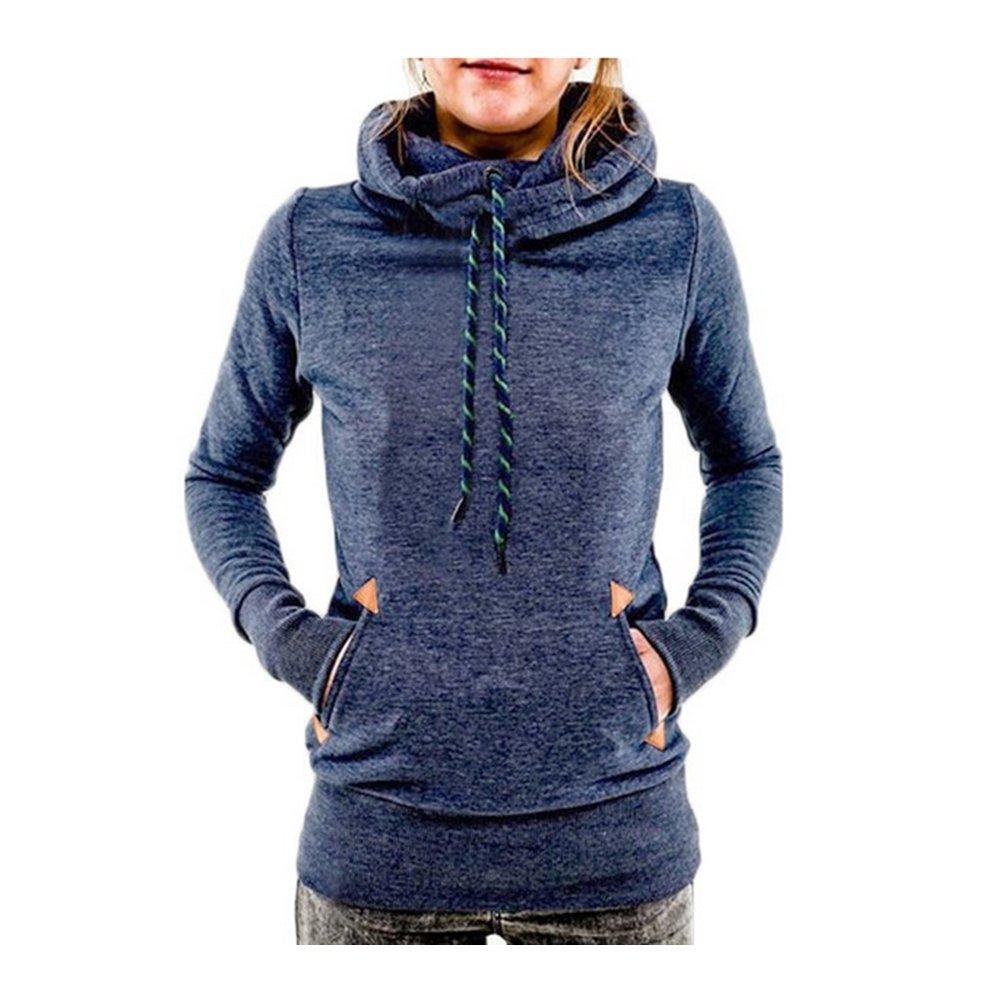 ACHIEWELL Women's Sweatshirt Hoodies Turtleneck Pullover Pocket Coat
