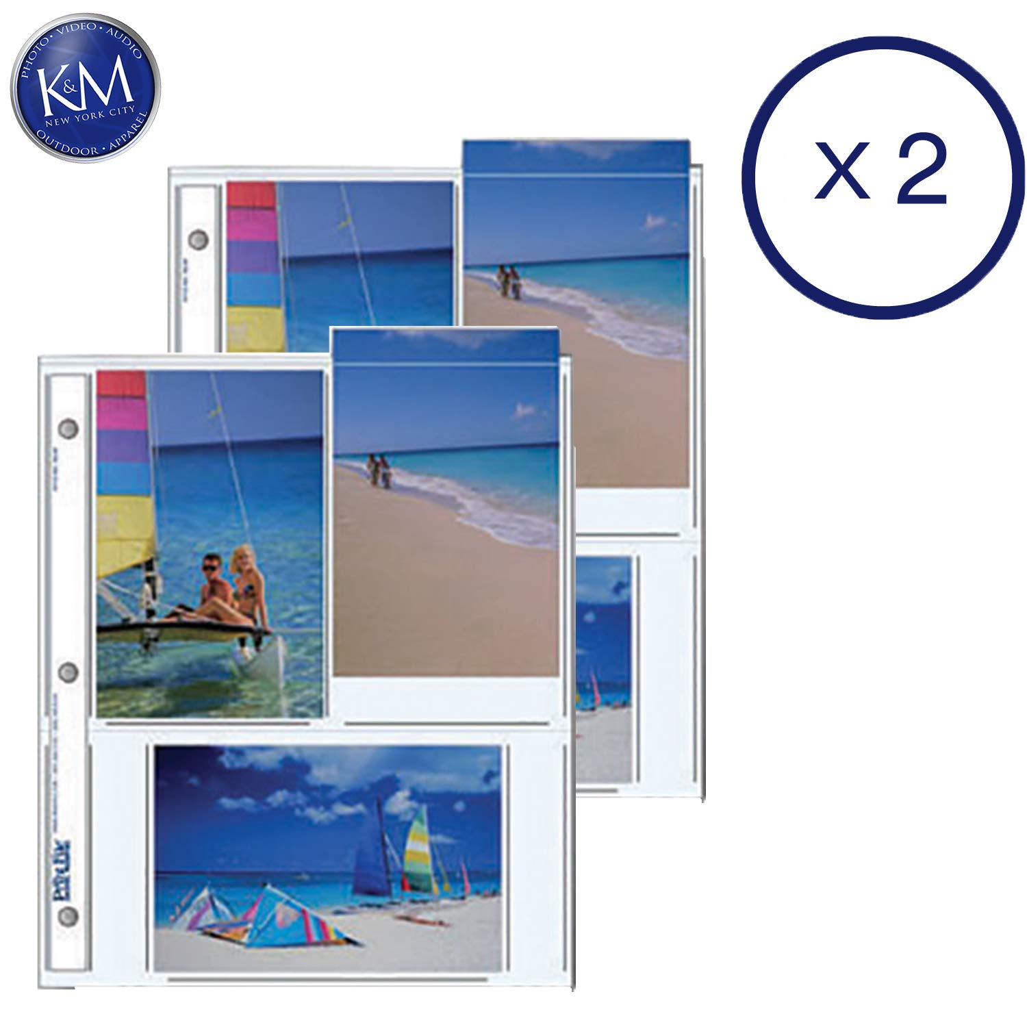 Print File Archival Storage Pages for Prints | 4 x 6, 6 Pockets - 25 Pack x 2 by Print File