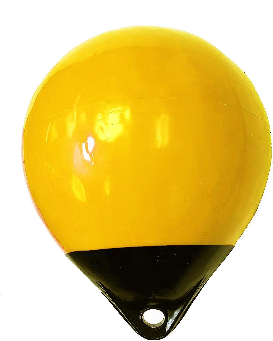 "B07N7VK2JL KUFA Yellow/Black 12 Diameter (inflated Size: 12\"" x 15\"") Mark Buoy Mooring Buoy Anchor Lift Buoy Shrimp Trap Buoy A30Y 6126hmNyUzL"