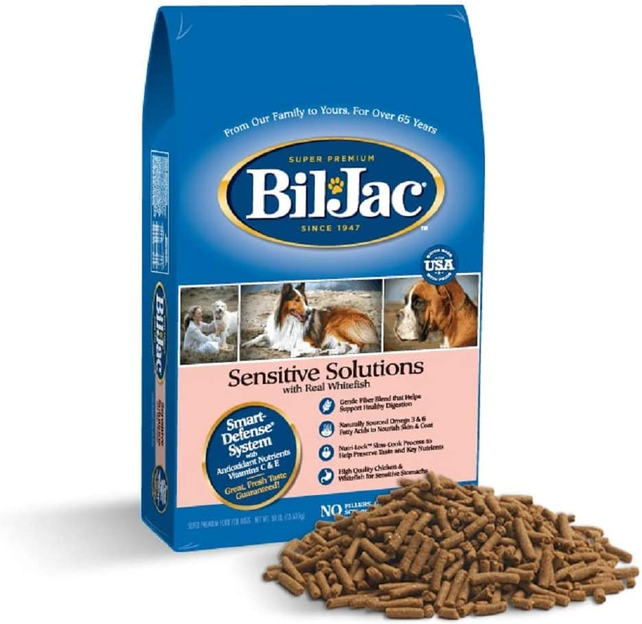 Bil-Jac 319085 Sensitive Solutions Dry Food For Dogs, 30-Pound