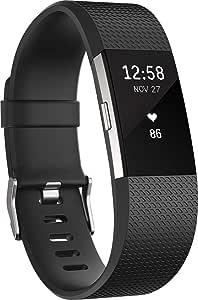 Fitbit Charge 2 Pulsera de Actividad física y Ritmo cardiaco, Unisex, Negro, S