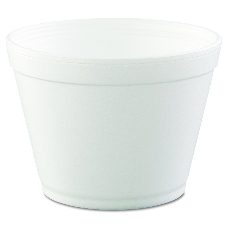 DART 16MJ32 Foam Containers,16oz, White, 25 per Bag (Case of 20 Bags)