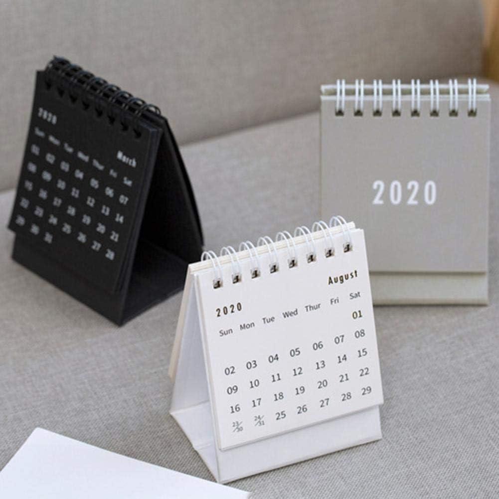 Mini Tischkalender 2020 Flip Calendar Desktop Trinket Note Kleiner Tischkalender 7.5x9.5cm // 2.95x3.74in