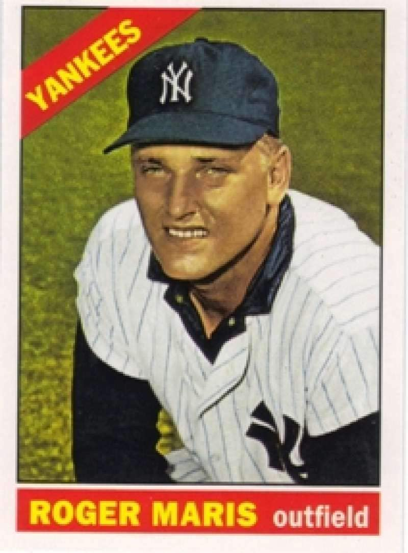 2011 Topps 60 Years Of Topps Baseball #60YOT-74 Roger Maris New York Yankees Official MLB Retro Reprint Trading Card From The Topps Company