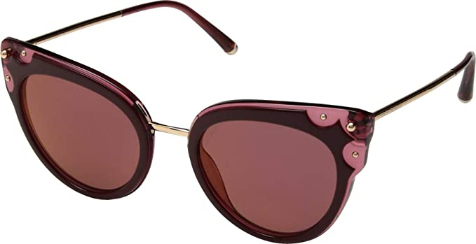 608ffcf4c68c Dolce   Gabbana Women s DG4340 Top Bordeaux Dark Pink Transparent Dark  Violet Mirror Red
