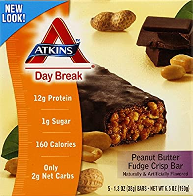 Atkins Day Break Bar,p/btr Crisp, 5/1.2 Oz