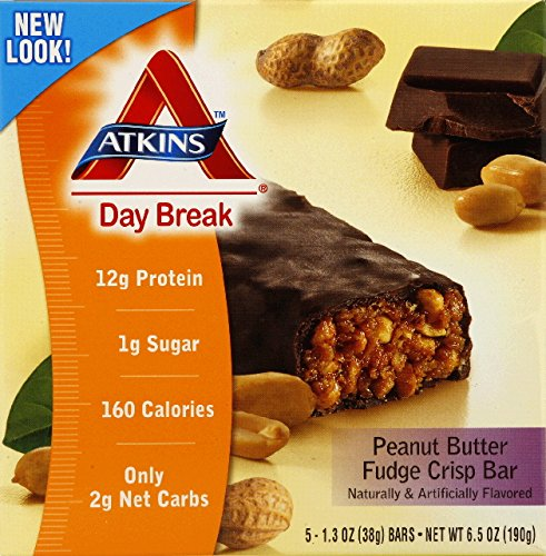 ATKINS DAY BREAK BAR,P/BTR CRISP, 5/1.2 OZ by Atkins