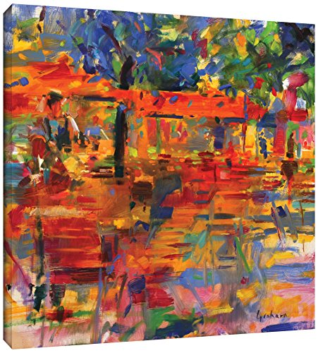 Peter Graham ''Falling Leaves, Paris'' Gallery Wrapped Canvas, 18X18 ()