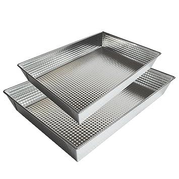 Oniel - Bandeja de Horno - Aluminio - Recubrimiento Antiadherente - Set de 2 - Hecha