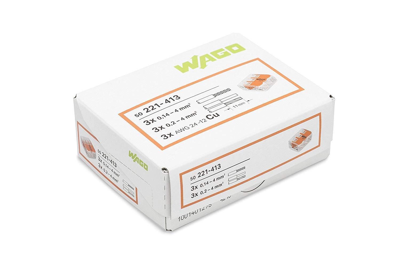 Wago 221-413 Verbindungsklemme,50 St/ück