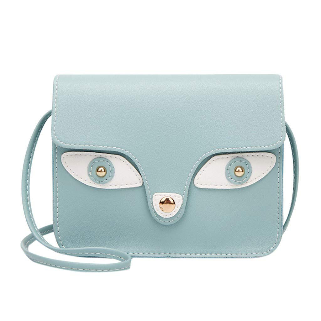 Bags for Women,Holographic Purse,Fashion Lady Shoulders Small Backpack Letter Purse Mobile Phone Messenger Bag
