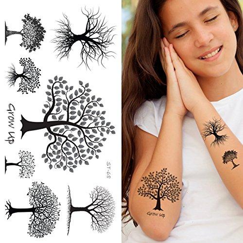 The Halloween Tree Tattoo (Supperb Temporary Tattoos - Black & White)