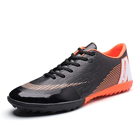782bed9a25c Amazon.com  FCSHOES Indoor Football Shoes Kids Futsal Shoes for Sock Football  Boots Boys Soccer Cleats Sneakers  Sports   Outdoors