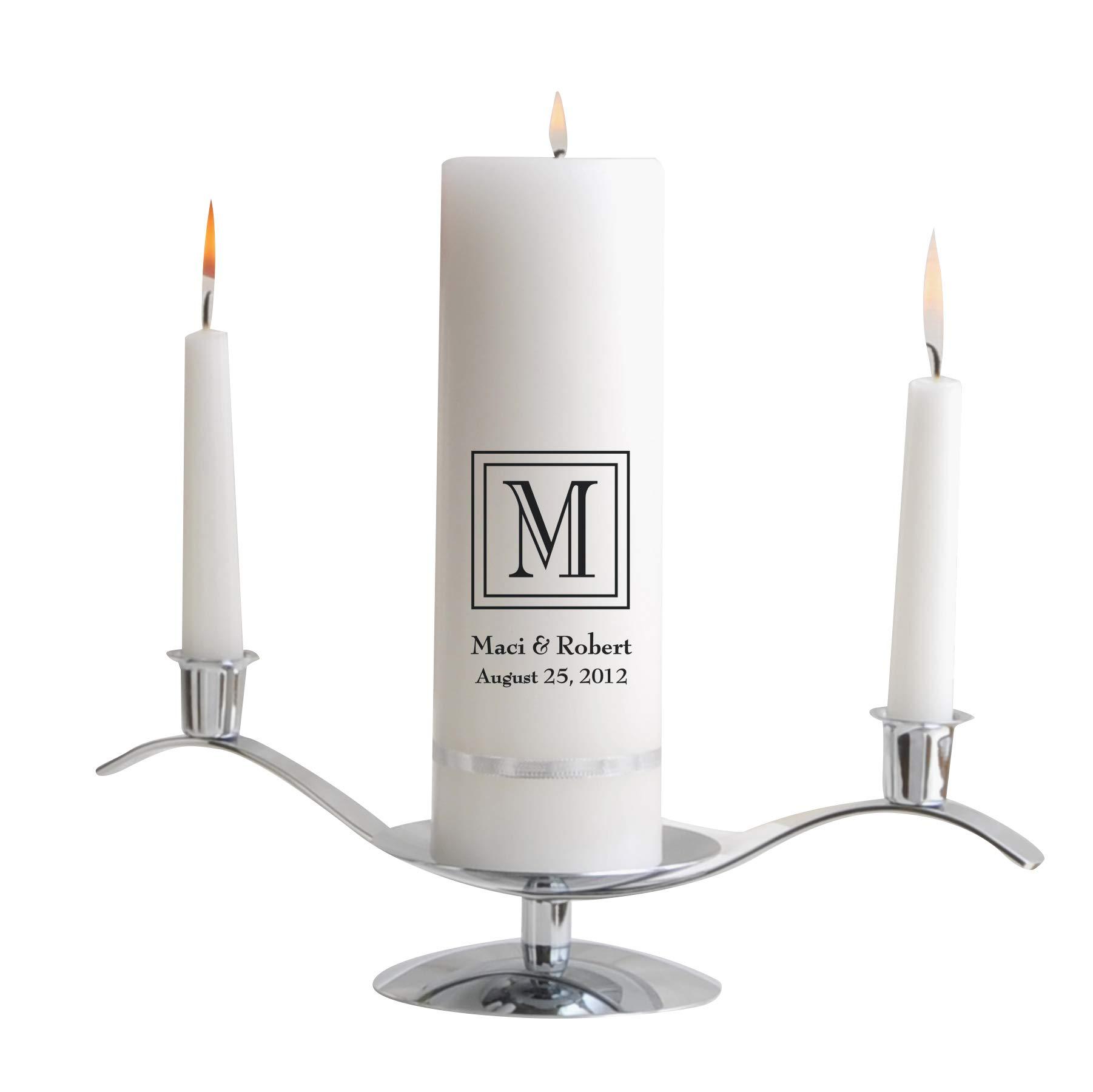 Personalized Wedding Unity Candle - Personalized Unity Candle Set- Classic by A Gift Personalized