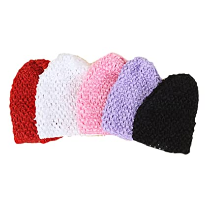 Generic Baby Girl s Beanie Cap (Assorted)- Set of 5  Amazon.in  Baby 5378ffc31469