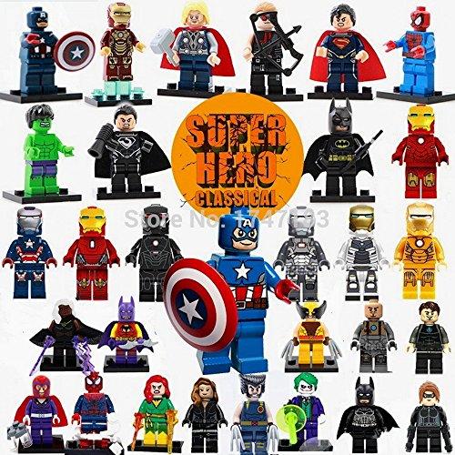 Lego Super Heroes The Avengers 30pcs/lot Iron Man Hulk Batman Thor Building Blocks Sets Minifigure Bricks Toys