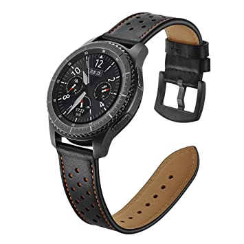 Aottom para Correas Galaxy Watch 46mm, Correa Samsung Gear S3 Frontier Cuero, Correas Samsung Gear S3 Classic 22mm Reemplazo de Pulseras de Repuesto ...