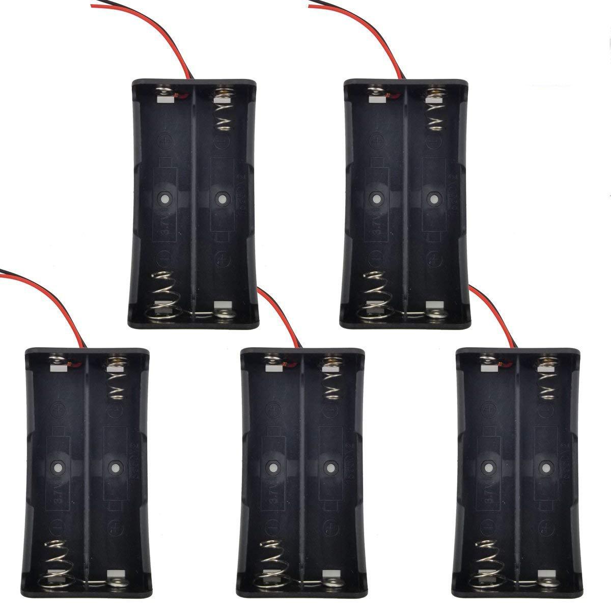 2PCS 3 x 18650 Parallel Plastic Battery Holder Case Box for Powerful Flashlight