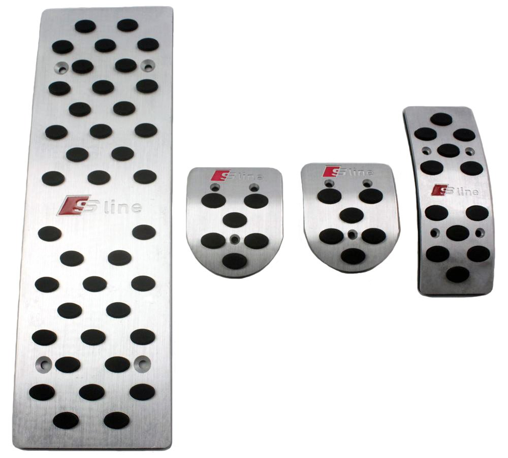 SUNDELY Car Foot Rest Fuel Brake MT Pedals for AUDI A4 A4L A4 Quattro A5 S4 S6 (for Manual Transmission Models)