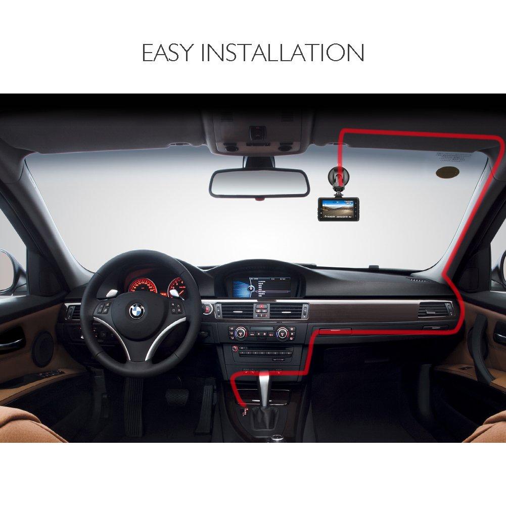 AKASO Car Dash Cam FHD 1080P 3 Inch Screen Dash Camera 170 Wide Angle Car Camera with G-Sensor, Parking Monitor, WDR, Loop Recording, Night Vision