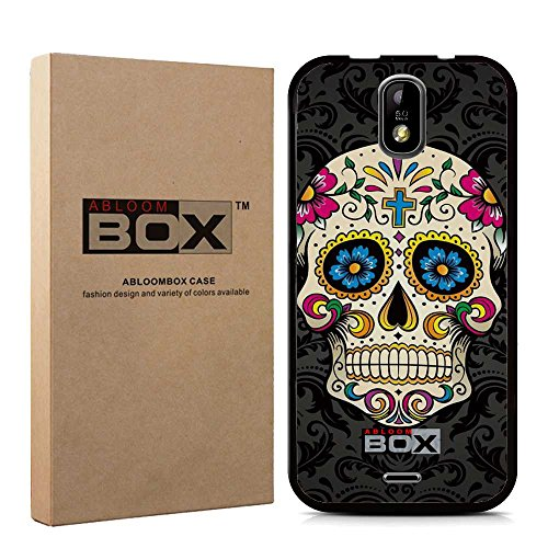 For BLU Studio G Plus Case , ABLOOMBOX(TM) Flexible Slim Soft Silicone TPU Rubber Gel Skin Protective Case Cover [Black] Retail Package for BLU Studio G Plus S510Q [Sugar Skull]