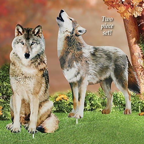 Amazon.com: Collections Etc Wolf - Juego de estacas ...