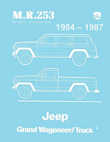 amazon com: bishko automotive literature 1984 1985 1986 1987 jeep grand  wagoneer shop service repair manual book engine: automotive