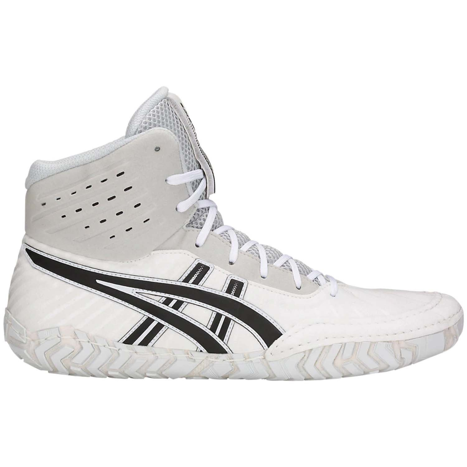 ASICS Aggressor 4 Men's Wrestling Shoes, White/Black, Size 9