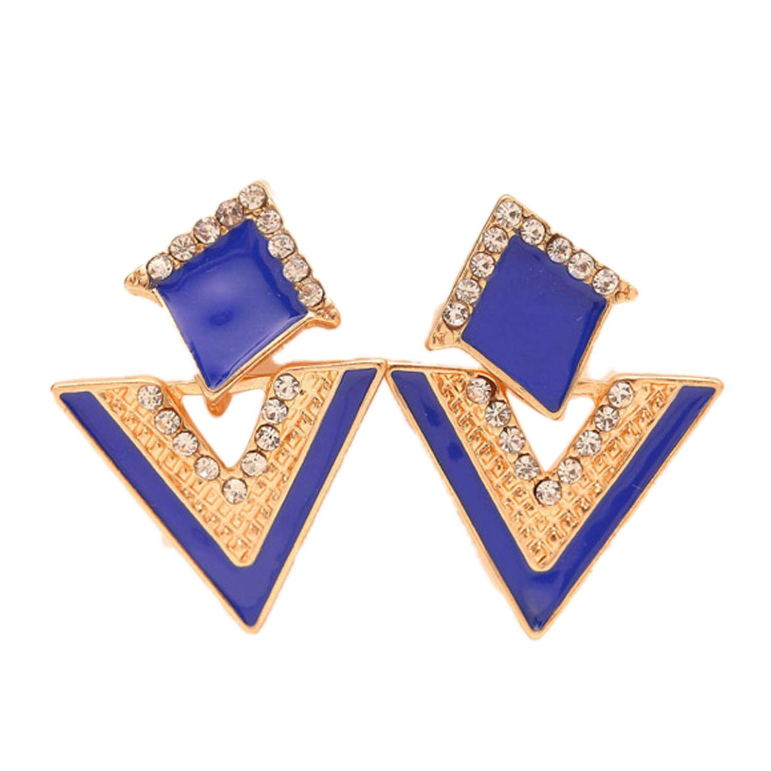 Hot Sale Brincos Colorful Enamel Rhinestone Party Earring for Women Fashion Accessories Jewelry