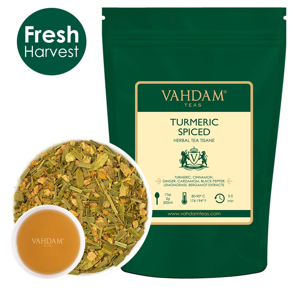 VAHDAM, Turmeric Spice Chai Tea (100 Cups) | India's Ancient Medicine Blend of Turmeric & Garden Fresh Spices