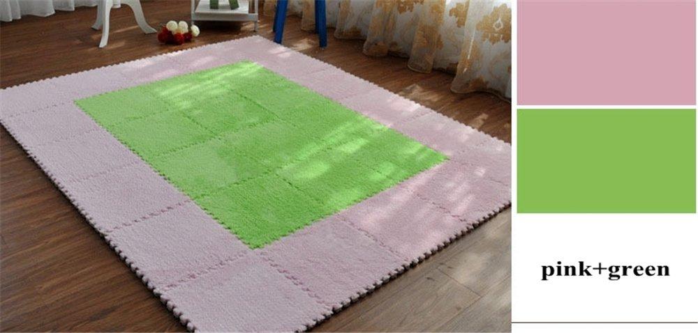 Carpet Interlocking Floor Tiles - Plush Carpet Area Rug - Puzzle Floor Mat - Interlocking Carpet Tiles, Thick, Non Toxic, Anti-Fatigue, Fluffy,Premium Foam Mat Meng Ge