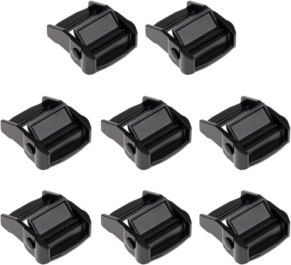 Sharplace 100 St/ück D-Ringe Schnalle Halbrunde gurtband schnallen-Verschluss Wei/ß 10x6x1.5mm