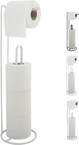 Toilettenpapierhalter freistehend verstellbar WC Rollenhalter Ersatzrollenhalter