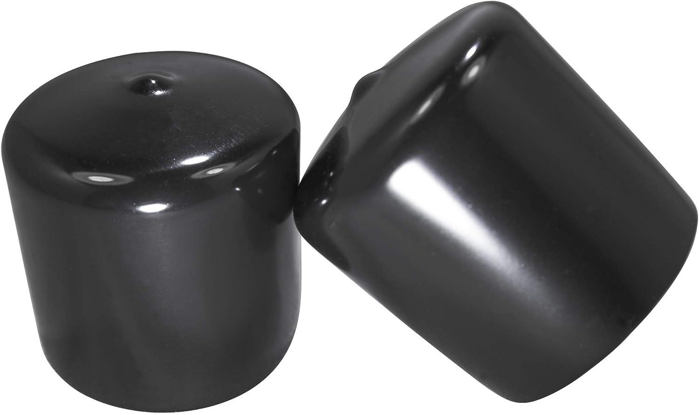 Prescott Plastics 1 3//4 Inch Round Black Vinyl Tall 4 End Cap Flexible Pipe Post Rubber Cover