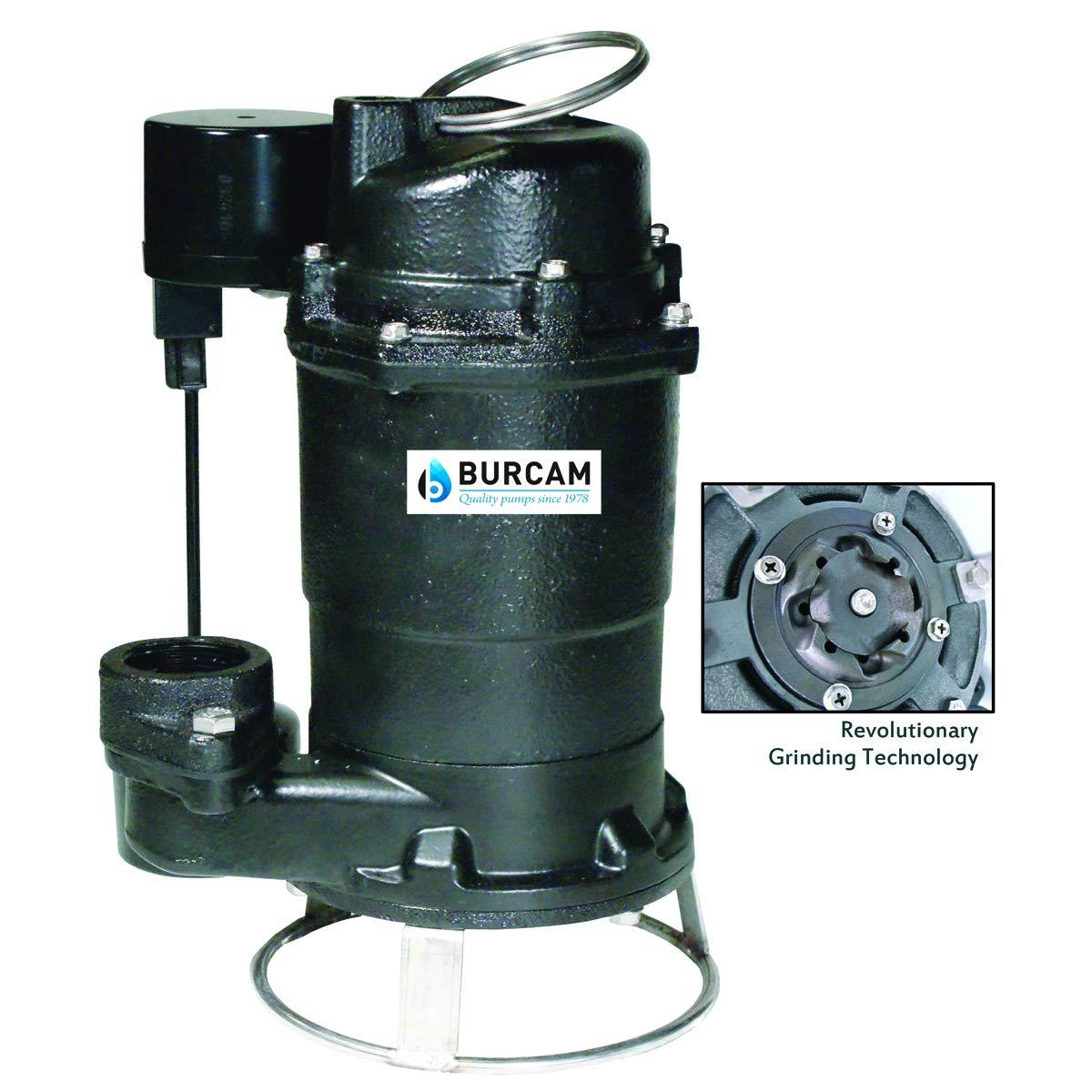 BURCAM 400700P 3/4 HP Sewage Grinder Pump