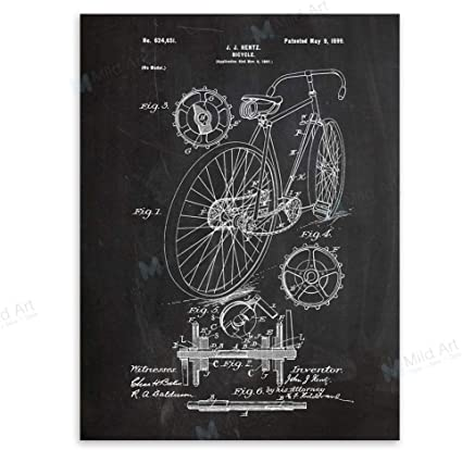 baodanla (sin Marco) Pizarra Bicicleta Dibujo Sala Pared Pintura ...