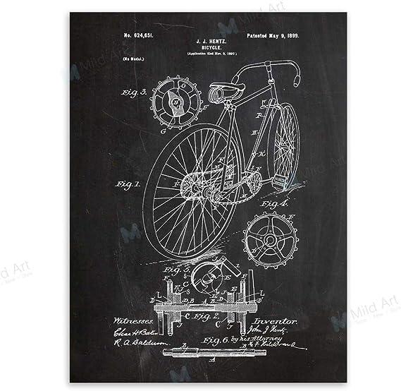 baodanla (sin Marco) Pizarra Bicicleta Dibujo Sala Pintura Mural 1 ...